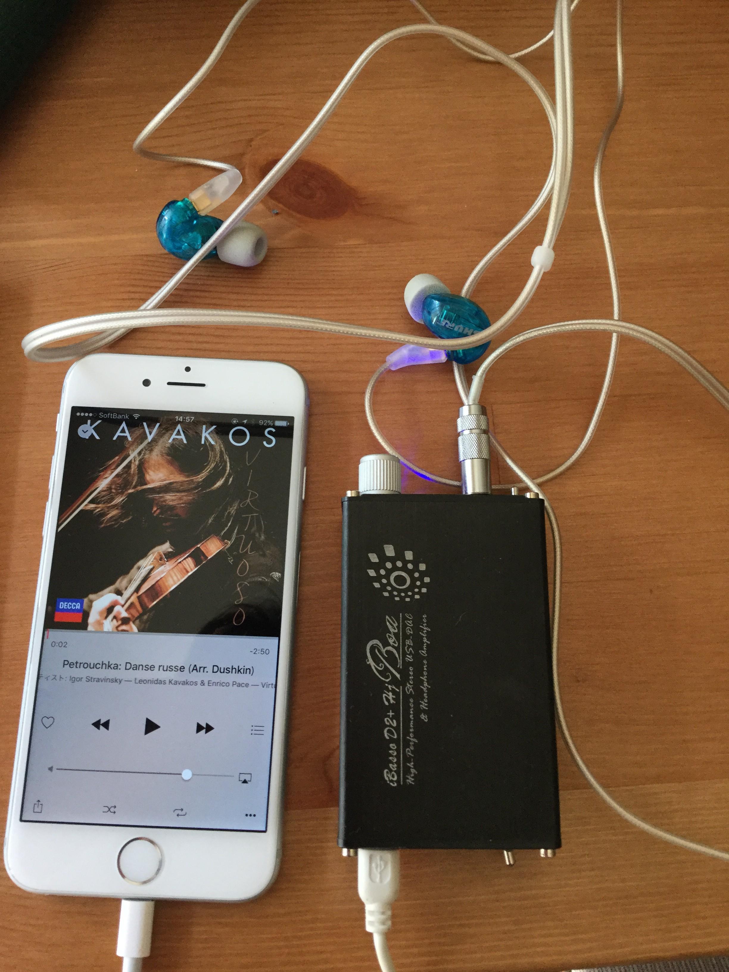 iBasso D2+ Hj BoaをiPhone6で使ってみた