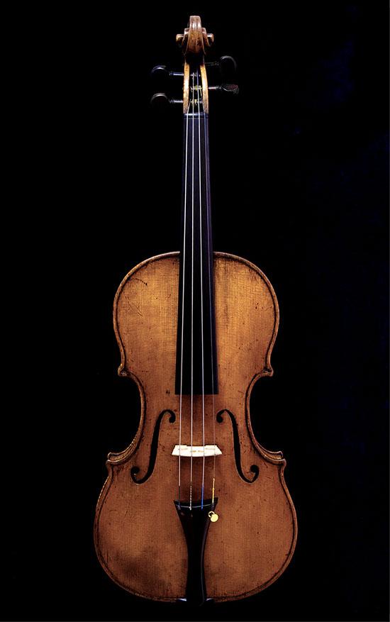 新作バイオリンを使っているプロバイオリニスト