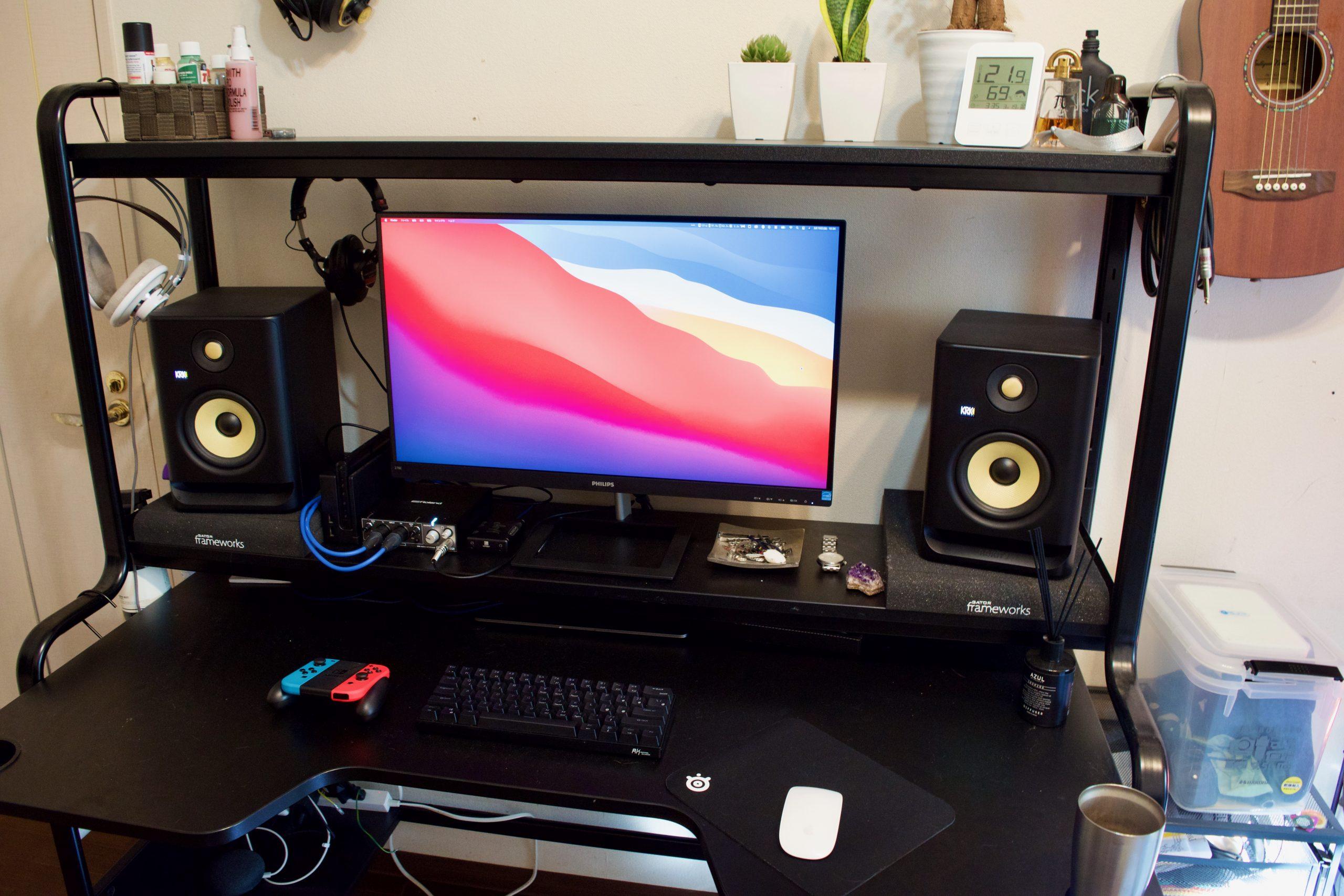作業スペースを一新しました【デスクトップ晒し2021】