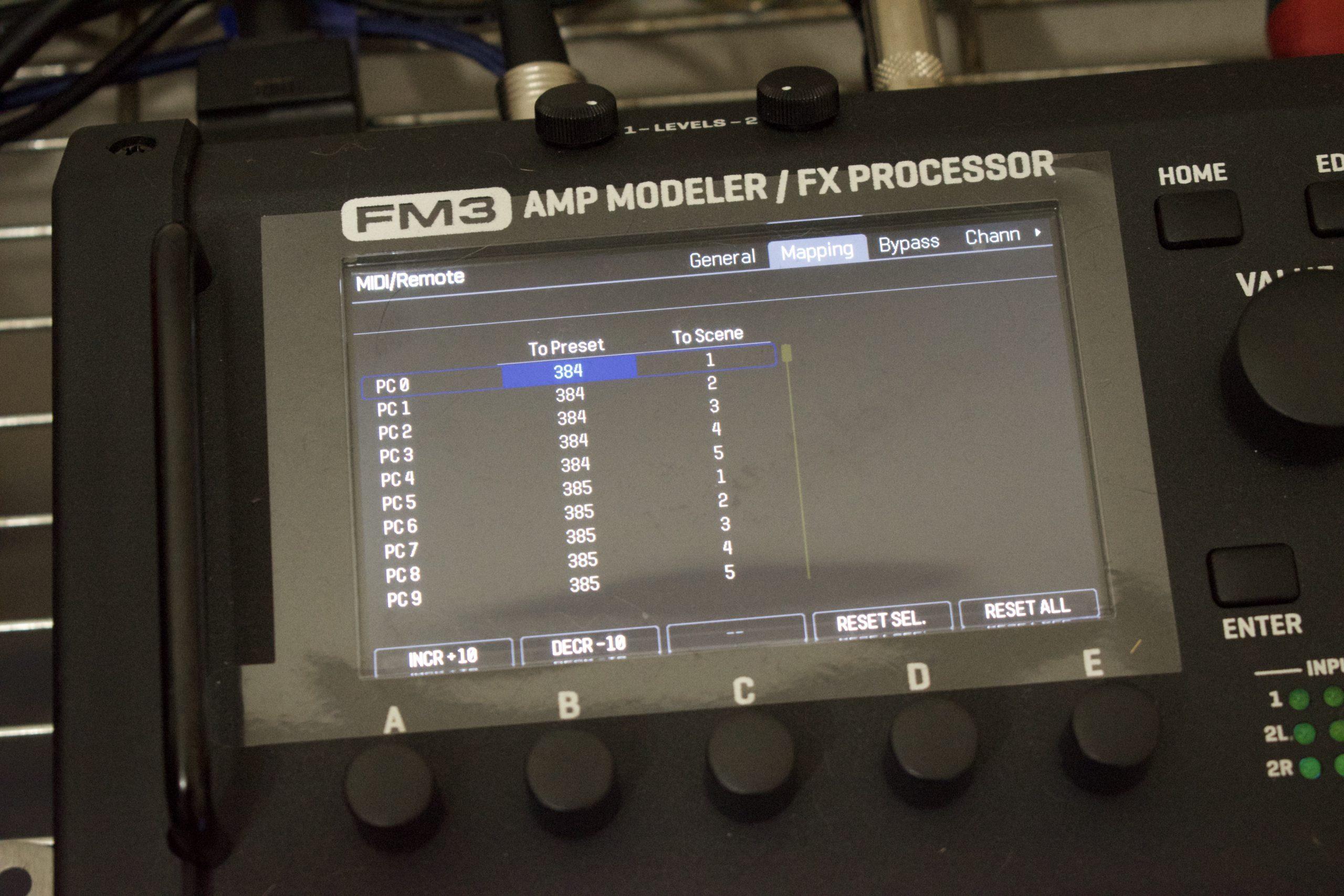 Fractal FM3をMIDIスイッチャーで制御する方法